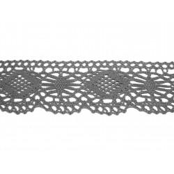 Bavlněná paličkovaná krajka 2007/40mm šedá/5m