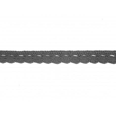 Bavlněná paličkovaná krajka 2005/10mm šedá/5m