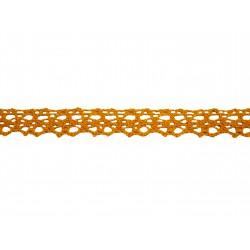 Bavlněná paličkovaná krajka 2009/15mm tm.žlutá/5m
