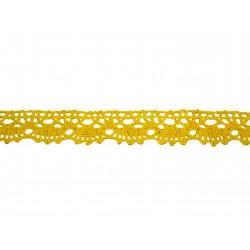 Bavlněná paličkovaná krajka 2021/20mm žlutá/5m
