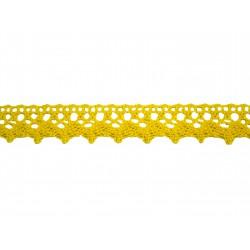 Bavlněná paličkovaná krajka 2029/20mm žlutá/5m