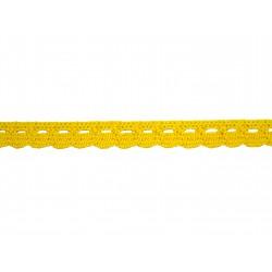Bavlněná paličkovaná krajka 2005/10mm žlutá/5m