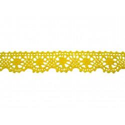 Bavlněná paličkovaná krajka 2022/25mm žlutá/5m