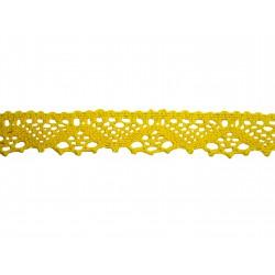 Bavlněná paličkovaná krajka 2031/25mm žlutá/5m