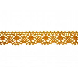 Bavlněná paličkovaná krajka 2022/25mm tmavě žlutá/5m