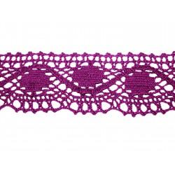 Bavlněná paličkovaná krajka 2061/45mm fialová/5m