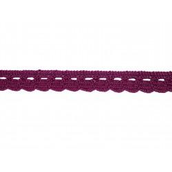 Bavlněná paličkovaná krajka2005/10mm fialová/5m