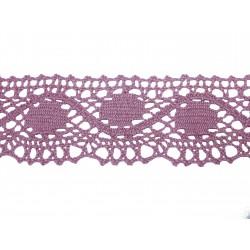 Bavlněná paličkovaná krajka 2061/45mm lila/5m