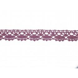 Bavlněná paličkovaná krajka2021/20mm lila/5m