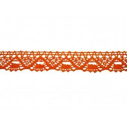 Bavlněná paličkovaná krajka 2023/30mm oranžová/5m