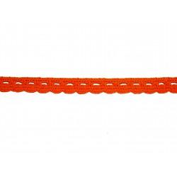 Bavlněná paličkovaná krajka 2005/10mm oranžová/5m