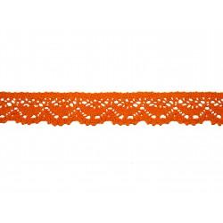 Bavlněná paličkovaná krajka 2025/23mm oranžová/5m