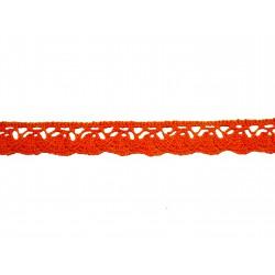 Bavlněná paličkovaná krajka 2018/20mm oranžová/5m