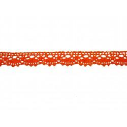 Bavlněná paličkovaná krajka 2021/20mm oranžová/5m