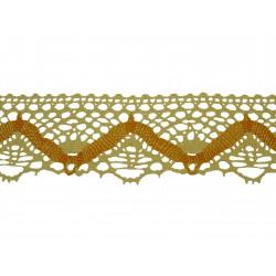 Bavlněná paličkovaná krajka 2014/50mm ecru-žlutá/5m