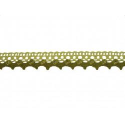 Bavlněná paličkovaná krajka 2029/20mm ecru lněná/5m
