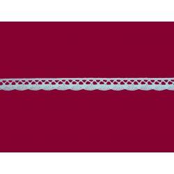 Bavlněná paličkovaná krajka2018A/12mm bílá/5m