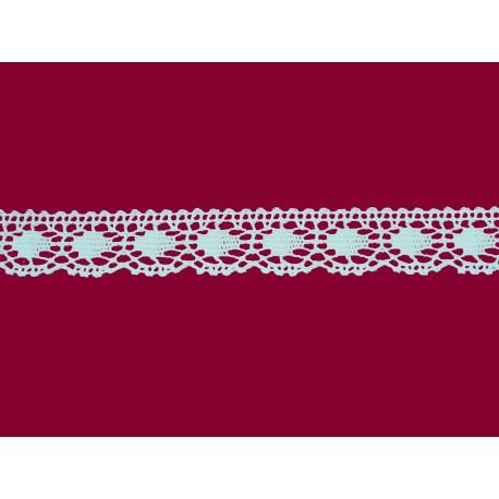 Bavlněná paličkovaná krajka2043/22mm  bílá/5m