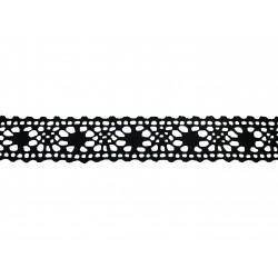 Bavlněná paličkovaná krajka 2038V/27mm černá/5m