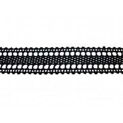 Bavlněná paličkovaná krajka 2058V/35mm černá/5m