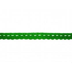 Bavlnená paličkovaná krajka 2005/10mm velikon.zel./5m