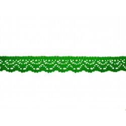 Bavlnená paličkovaná krajka 2025/23mm velikon.zel./5m