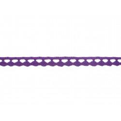 Bavlněná paličkovaná krajka 2074A/8mm fialová/5m