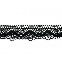 Bavlněná paličkovaná krajka 2014/50mm černá/5m