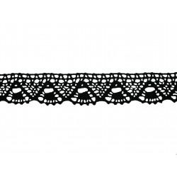 Bavlněná paličkovaná krajka 2023/30mm černá/5m
