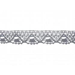 Bavlněná paličkovaná krajka 2023/30mm šedá/5m