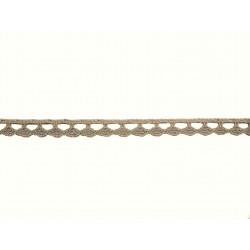 Bavlněná paličkovaná krajka 2074A/8mm lněná/5m